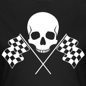 Skull Checkered Flags T-Shirts - Women's T-Shirt