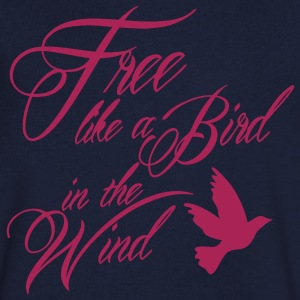 free like a bird in the wind T-shirts - T-shirt med v-ringning herr