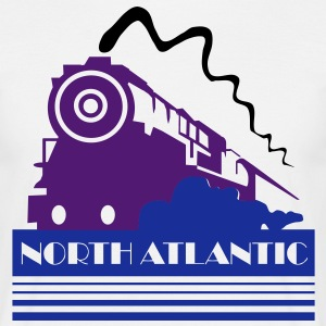 North Atlantic Steam Railway - three colour vector T-Shirts - Men's T-Shirt