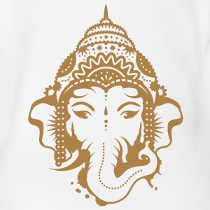 A portrait of the elephant god Ganesha Baby Shirts  - Organic Short-sleeved Baby Bodysuit