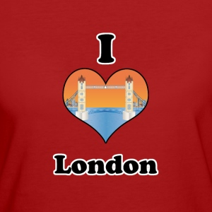 I love London-tower bridge at sundown T-shirts - Vrouwen Bio-T-shirt