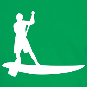 Sup, stående padling, surfing, surfing, Supen, Stand up padle surfing T-shirts - Herre kontrast-T-shirt