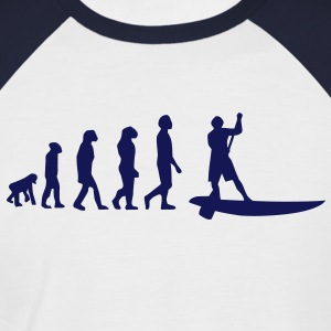 Evolution Sup, Sup, standing paddling, surfing, surfing Supen, Stand up paddle surfing T-shirts - Men's Baseball T-Shirt
