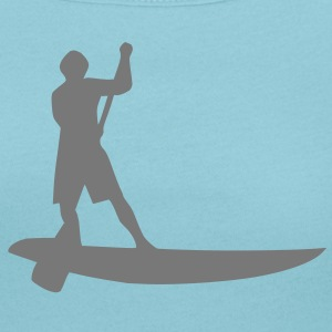 Sup, de pie remo, surf, surf, Supen, stand up paddle surf camisetas - Camiseta con escote redondo mujer