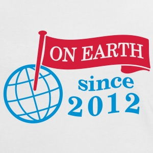 flag on earth since 2012  2c (dk) T-shirts - Dame kontrast-T-shirt
