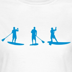 Sup, Stehpaddeln, Surfen, Wellenreiten, supen, Stand up  paddle surfing T-Shirts - Frauen T-Shirt