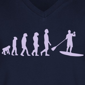 Evolution, Sup, standing paddling, surfing, surfing Supen, Stand up paddle surfing T-shirts - Men's V-Neck T-Shirt