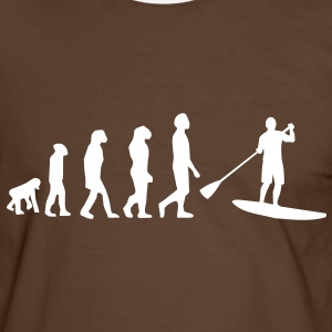 Evolution, Sup, Stehpaddeln, Surfen, Wellenreiten, supen, Stand up  paddle surfing T-Shirts - Männer Kontrast-T-Shirt