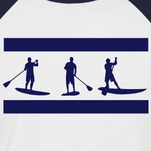 Sup, stående paddling, surfing, surfa, Supen, Stand Up Paddle surfing T-shirts - Kortärmad basebolltröja herr