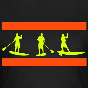 Sup, stående paddling, surfing, surfa, Supen, Stand Up Paddle surfing T-shirts - T-shirt dam