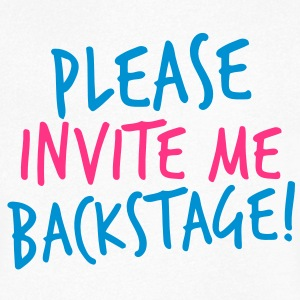 please invite me backstage! VIP CONCERT Tee T-Shirts - Men's V-Neck T-Shirt