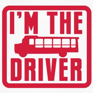 I'm the BUS DRIVER with a bus in a square T-Shirts - Men's V-Neck T-Shirt