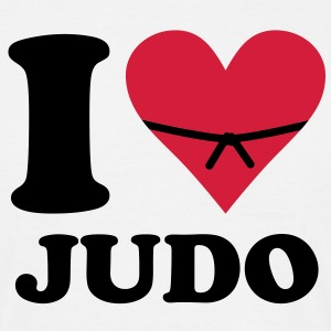 i love judo - Men's T-Shirt