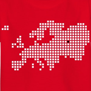 Rood Moskou Europe Map Kinder shirts - Kinderen T-shirt