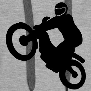 Biker on a trials bike - Women's Premium Hoodie