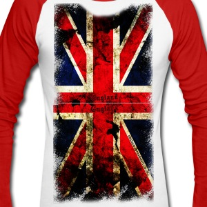 union_jack_down Long sleeve shirts - Men's Long Sleeve Baseball T-Shirt