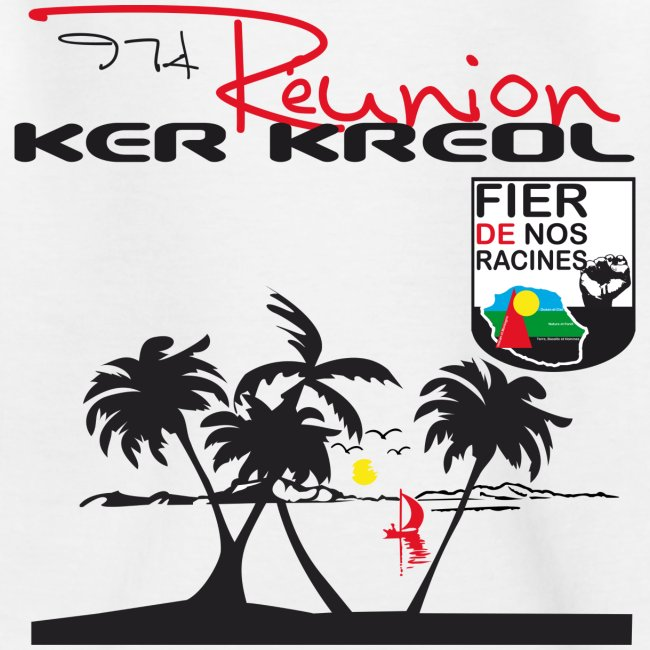 Tee shirt Enfant 974 Ker Kreol Réunion 2013 pays