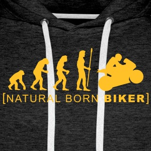 natural born biker - Sweat-shirt à capuche Premium pour hommes