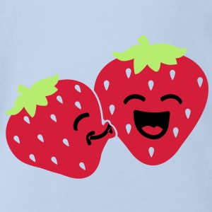 strawberry kiss Shirts - Baby bio-rompertje met korte mouwen