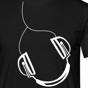 Corded headset  T-Shirts - Men's T-Shirt