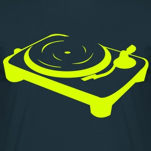 Turntable DJ booth  T-shirts - Mannen T-shirt