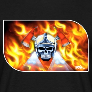 fire skull T-Shirts - Men's T-Shirt