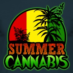 summer cannabis Tee shirts