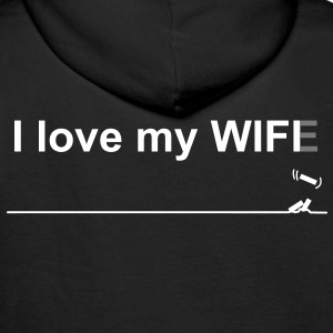I love my wifi wife Sweat-shirts - Sweat-shirt à capuche Premium pour hommes