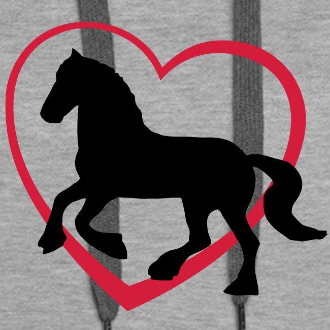 Fresian Horse Hoodie