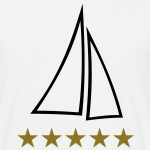 sail sailing boat yacht ships sails ship T-Shirts - Men's T-Shirt