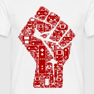 Gamer fist revolution - Mannen T-shirt