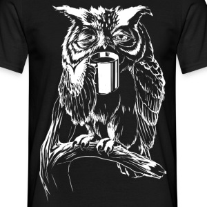 Coffee Owl T-Shirts - T-shirt Homme