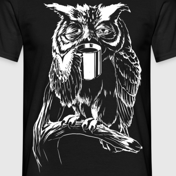 Coffee Owl T-Shirts - T-shirt herr