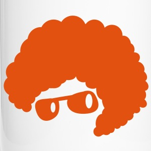 cool orange afro hair style 70's sunglasses  Bottles & Mugs - Travel Mug