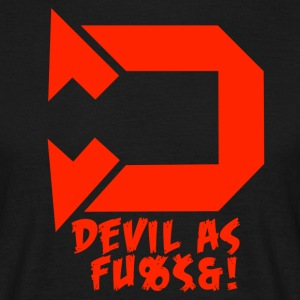 Devil as f*ck red - Men's T-Shirt