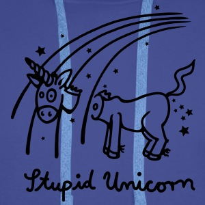 The stupid unicorn loses his head Hoodies & Sweatshirts - Men's Premium Hoodie