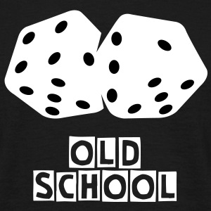 Old school dobbelstenen T-shirt - Mannen T-shirt