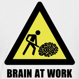 Brain at Work T-Shirts - Men's Baseball T-Shirt