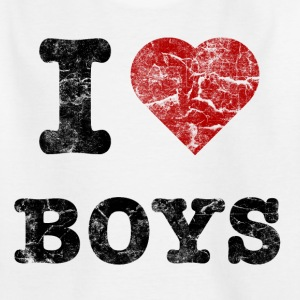 i love boys vintage dark T-shirts - T-shirt barn