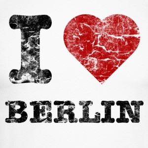 i_love_berlin_vintage_dark Long sleeve shirts - Men's Long Sleeve Baseball T-Shirt
