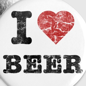 i_love_beer_vintage_dark Buttons - Buttons middel 32 mm