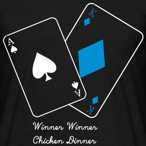 Winner winner chicken dinner, Black jack, poker cards, leaving few, ass T-Shirts - Men's T-Shirt