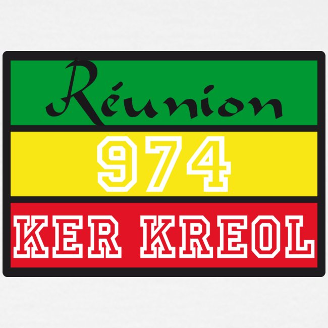Tee shirt classique Homme  Ker Kreol Nation Rasta