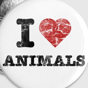 i_love_animals_vintage Knappar - Mellanstora knappar 32 mm