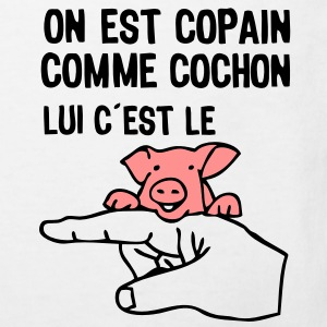 copain comme cochon citation2 expression Tee shirts Enfants - T-shirt Bio Enfant