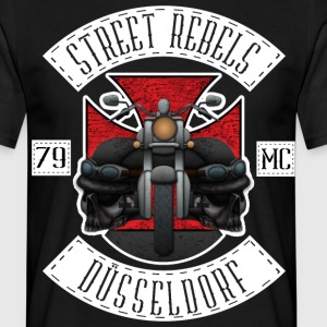 Street Rebels Düsseldorf MC Rockerkutte by Indivi - Männer T-Shirt