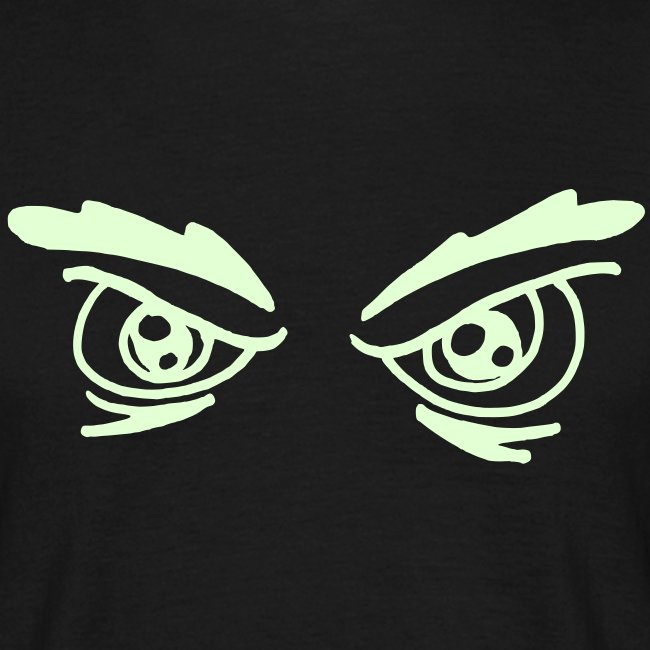 Angry eyes_reflektierend