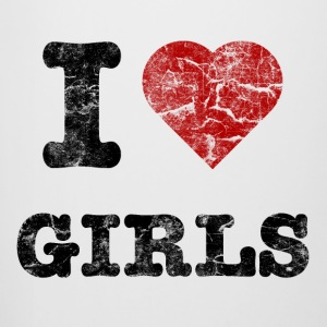 i love girls vintage dark Flaskor & muggar - Ölkrus