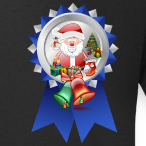 Christmas Rossette Father Christmas with bells - Men's V-Neck T-Shirt