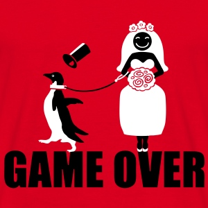 Game Over Pinguin T-Shirts - Männer T-Shirt
